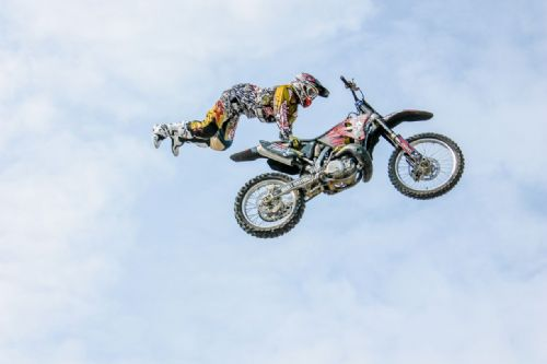 Motocross Extreme Sports  Canvas Framed Wall Art -9